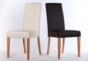 כסא  מרופד ב דמוי עור חום,פנינה רגל אלון נתן לבחור בדים מקטלוגים