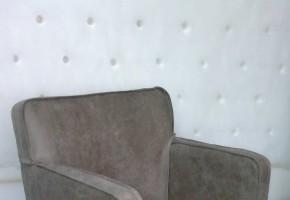 חידוש כורסא  בעור עם תפר ספתים
