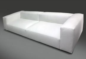 ספה דגם מילנו מרופדת ב עור לבן,נתן לייצר כול מידה,מבחר עורות ו בדים.