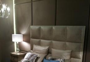 מיטה זוגית מרופדת דגם פרובנס